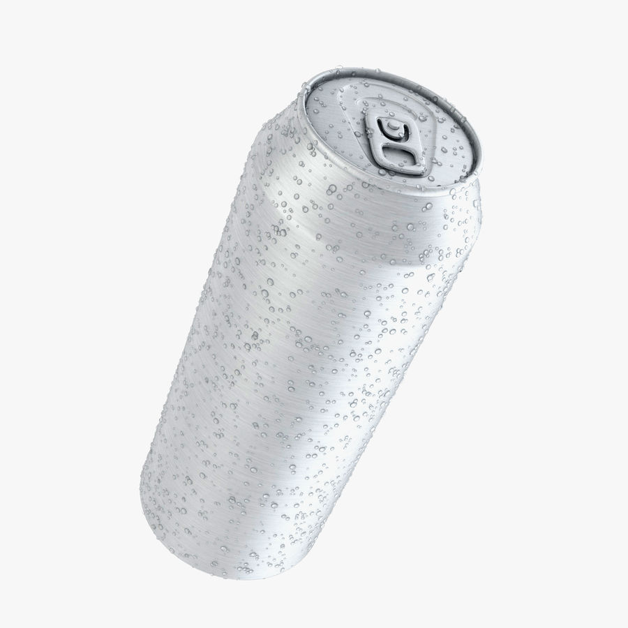 Can With Water Drops 500ml royalty-free 3d model - Preview no. 1