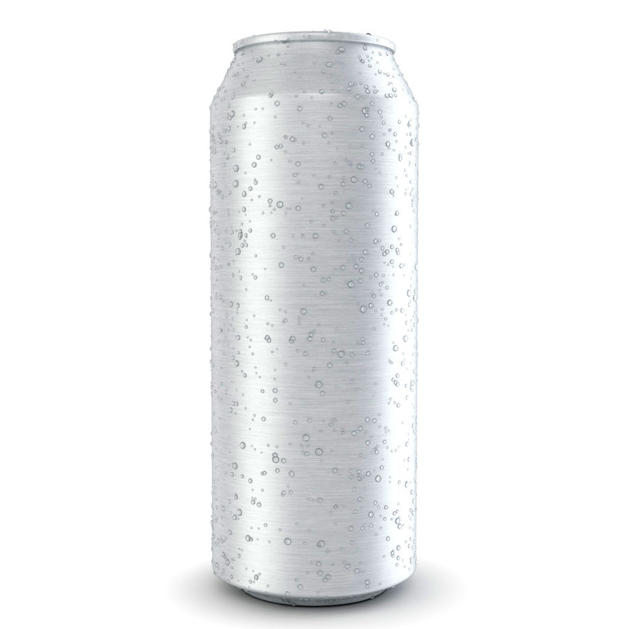 Can With Water Drops 500ml royalty-free 3d model - Preview no. 2