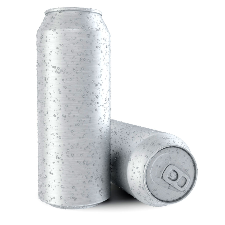 Can With Water Drops 500ml royalty-free 3d model - Preview no. 3