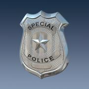 Полицейский значок 3d model
