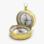 Goldener Kompass 3d model