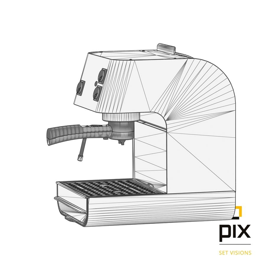 Starbucks Barista Coffee Machine royalty-free 3d model - Preview no. 8
