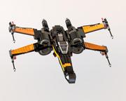 Combattant X-Wing de Lego Star Wars Poe 3d model