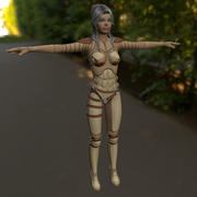 Женская броня 3d model