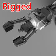 industrial robot hand arm 3d model