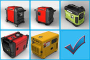 Portable Generator Collection 3d model