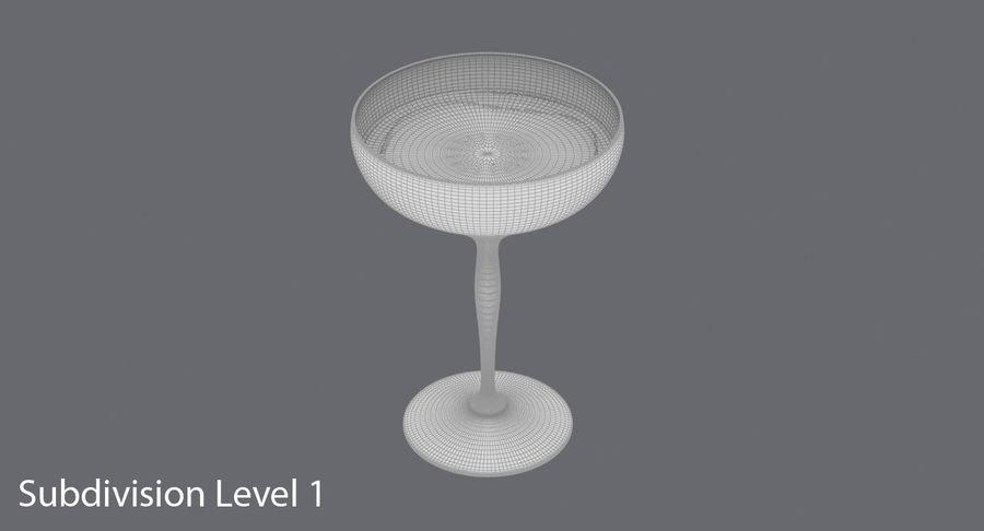 Полное шампанское купе royalty-free 3d model - Preview no. 17