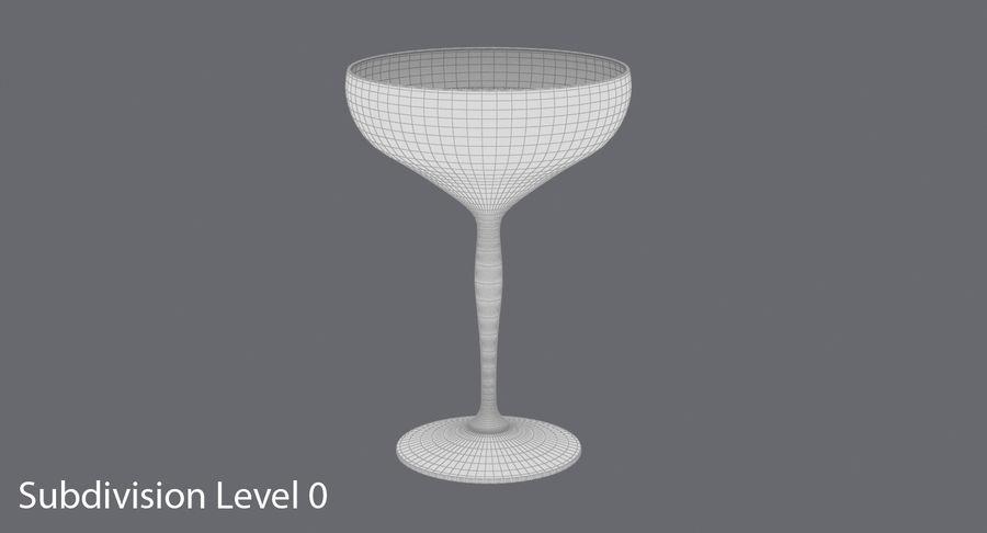 Полное шампанское купе royalty-free 3d model - Preview no. 12