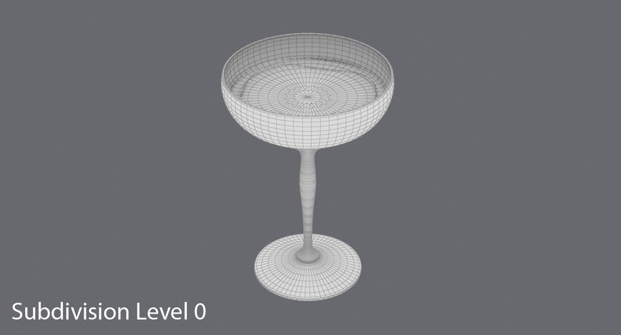 Полное шампанское купе royalty-free 3d model - Preview no. 16