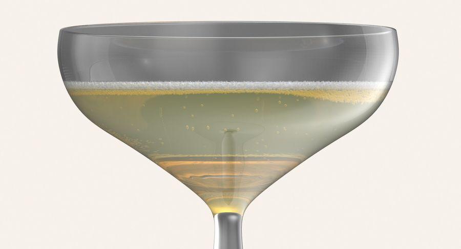 Полное шампанское купе royalty-free 3d model - Preview no. 8