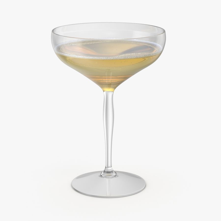 Полное шампанское купе royalty-free 3d model - Preview no. 1
