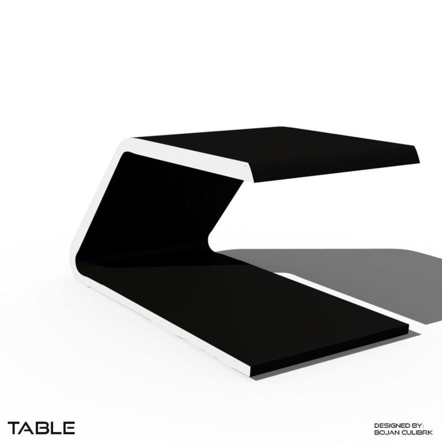 Футуристический стол, стол и скамейка royalty-free 3d model - Preview no. 1