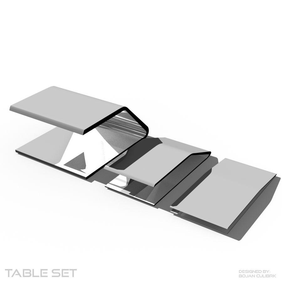 Футуристический стол, стол и скамейка royalty-free 3d model - Preview no. 5