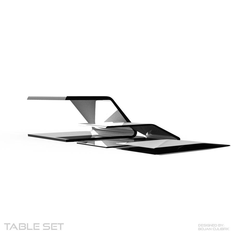 Футуристический стол, стол и скамейка royalty-free 3d model - Preview no. 6