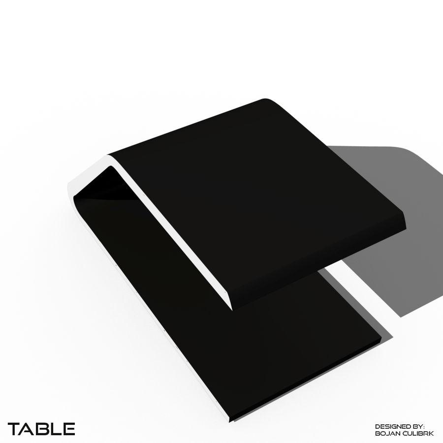 Футуристический стол, стол и скамейка royalty-free 3d model - Preview no. 2