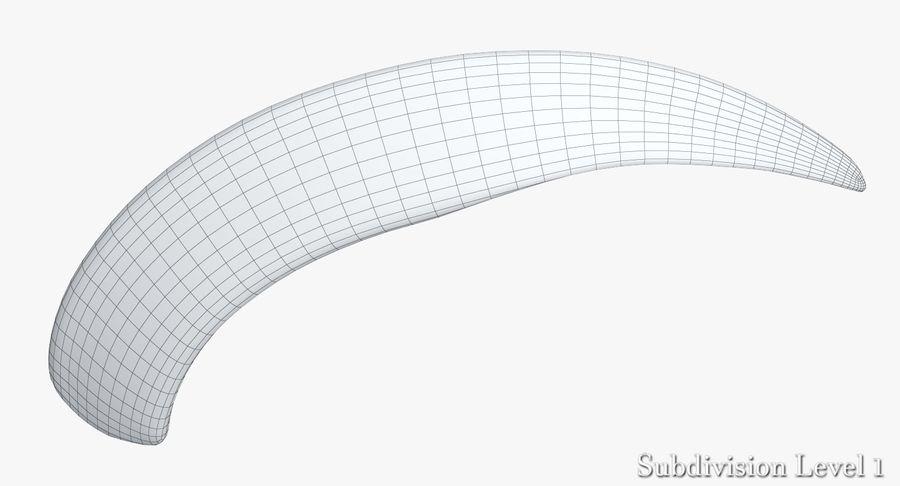 Défense de phacochère royalty-free 3d model - Preview no. 20