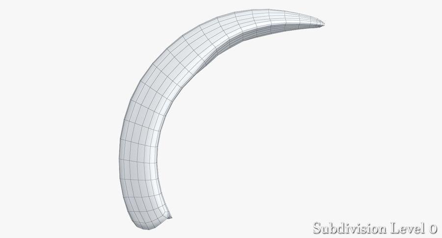 Défense de phacochère royalty-free 3d model - Preview no. 11