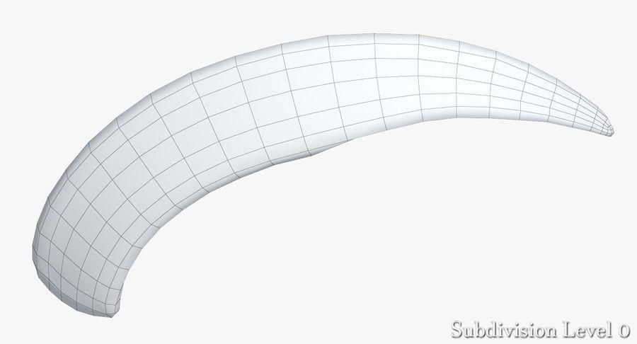 Défense de phacochère royalty-free 3d model - Preview no. 19