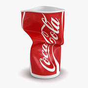 Kubek Crumpled Drink Coca Cola 2 Model 3D 3d model