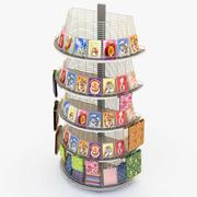 Cartões Rack 3d model
