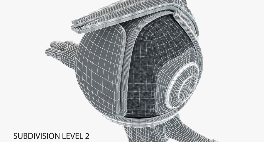 Robot Character royalty-free 3d model - Preview no. 10