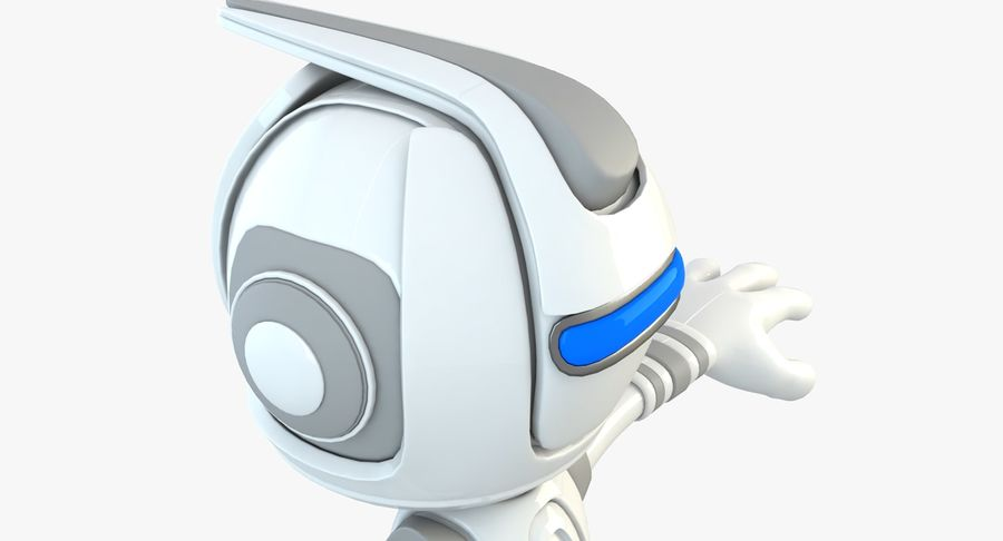 Робот Персонаж royalty-free 3d model - Preview no. 3