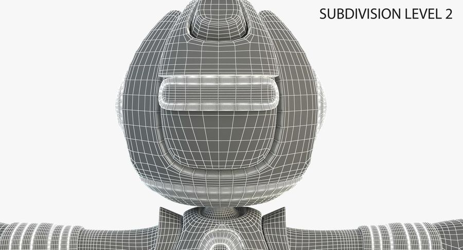 Robot Character royalty-free 3d model - Preview no. 8