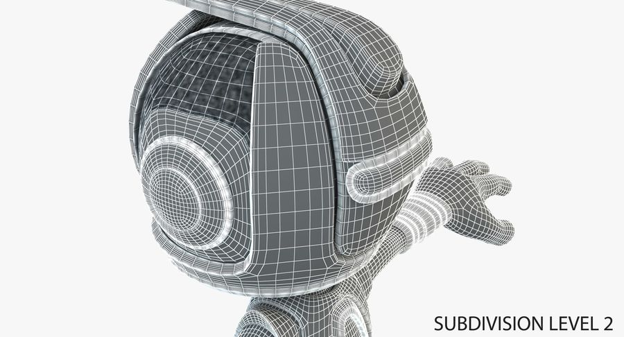 Робот Персонаж royalty-free 3d model - Preview no. 9