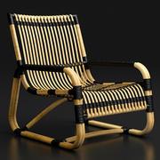 Rotan stoel 3d model