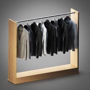 Askıdaki ceketler 3d model
