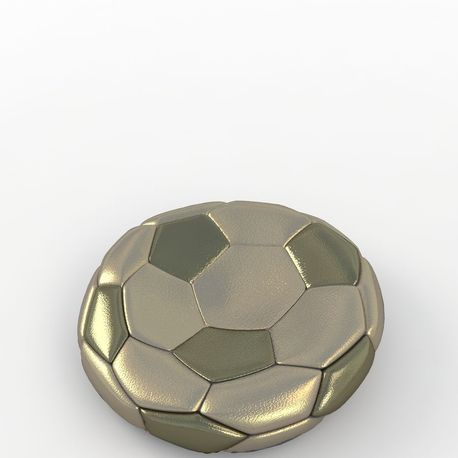 Soccerball plat or royalty-free 3d model - Preview no. 5