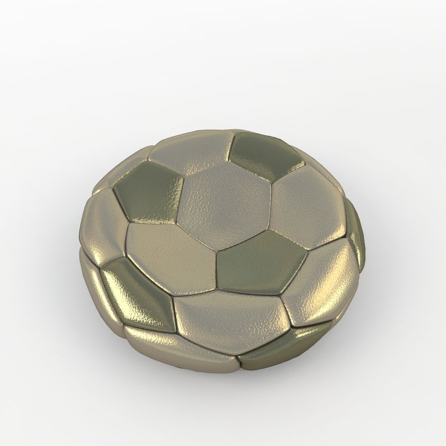 Soccerball plat or royalty-free 3d model - Preview no. 3