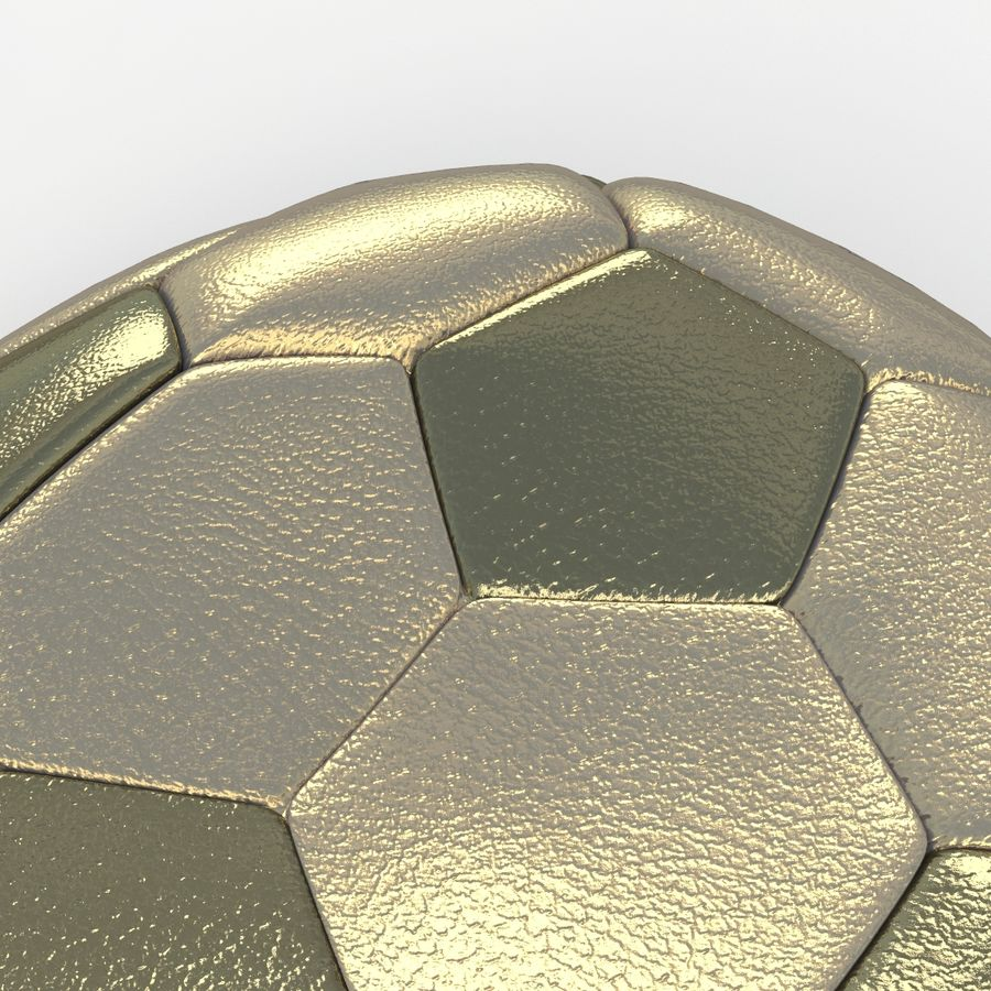 Soccerball plat or royalty-free 3d model - Preview no. 4