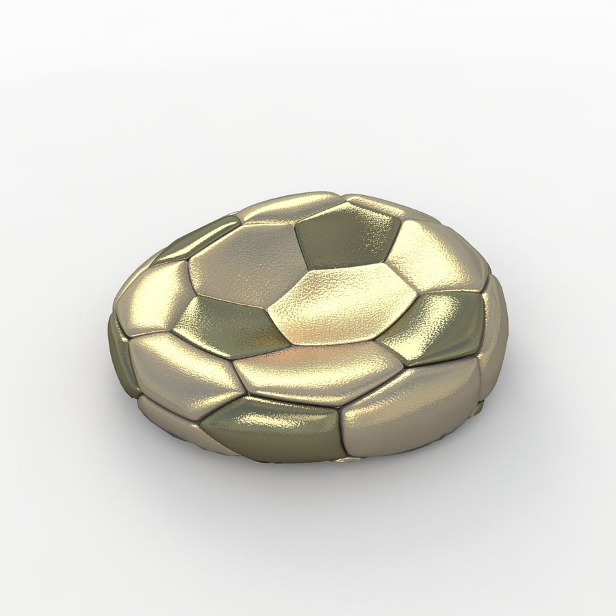 Soccerball plat or royalty-free 3d model - Preview no. 1
