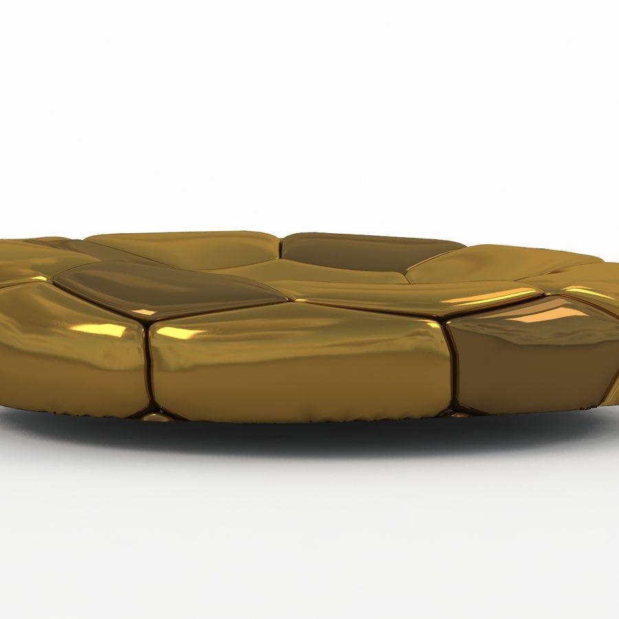 Soccerball plat doré royalty-free 3d model - Preview no. 1