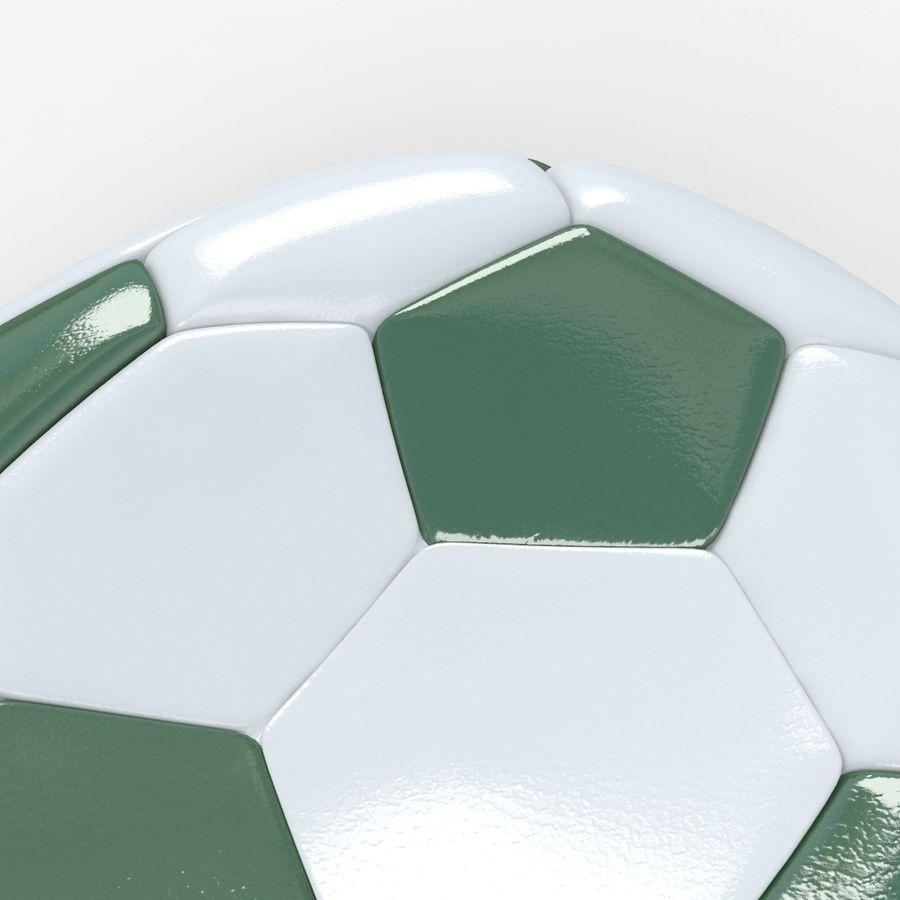 Soccerball plat vert royalty-free 3d model - Preview no. 4