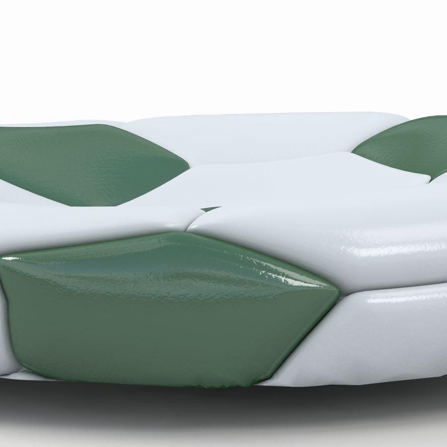 Soccerball plat vert royalty-free 3d model - Preview no. 6