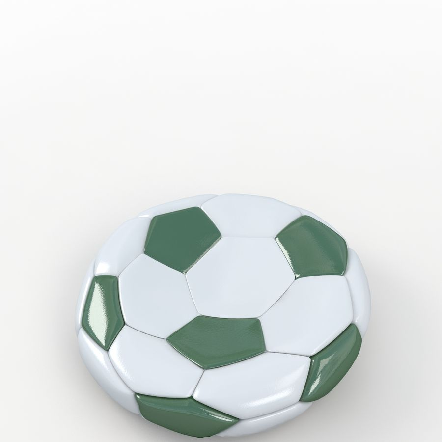 Soccerball plat vert royalty-free 3d model - Preview no. 5
