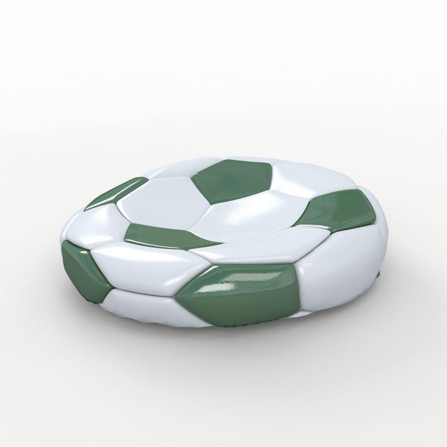 Soccerball plat vert royalty-free 3d model - Preview no. 1