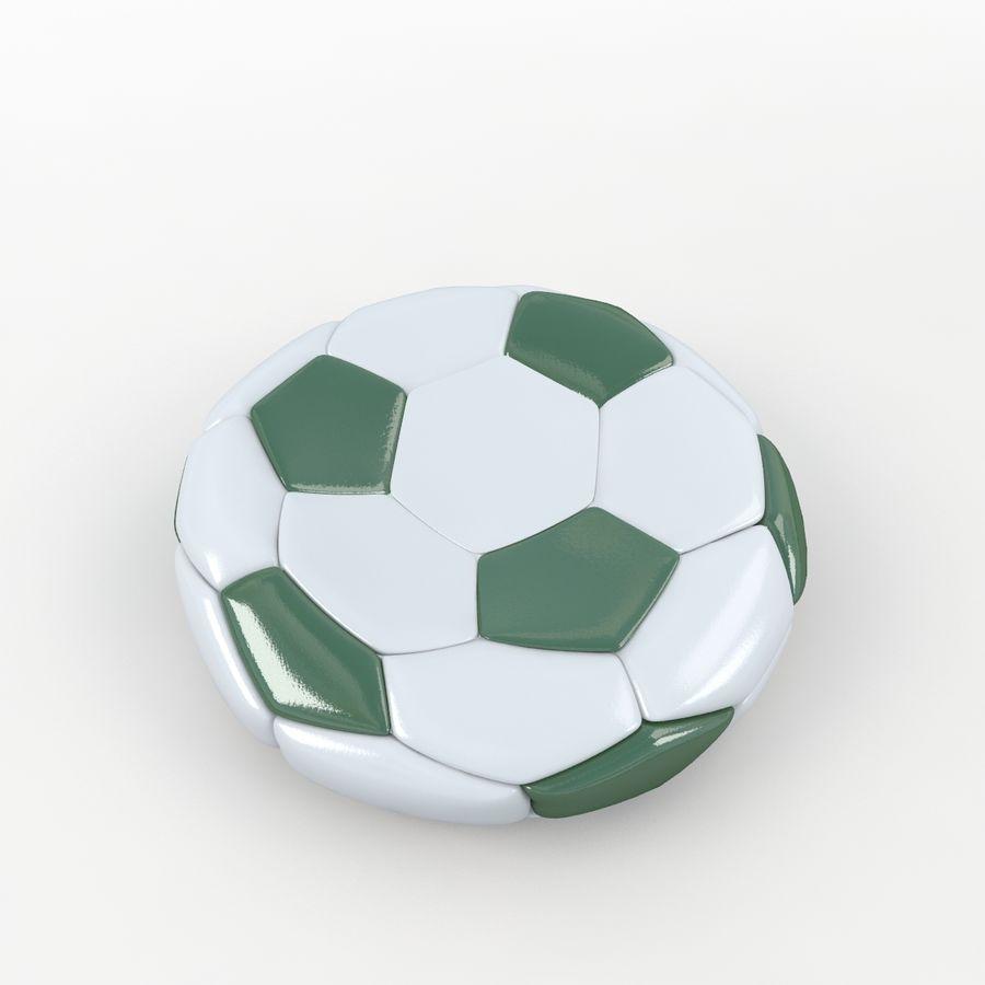 Soccerball plat vert royalty-free 3d model - Preview no. 3