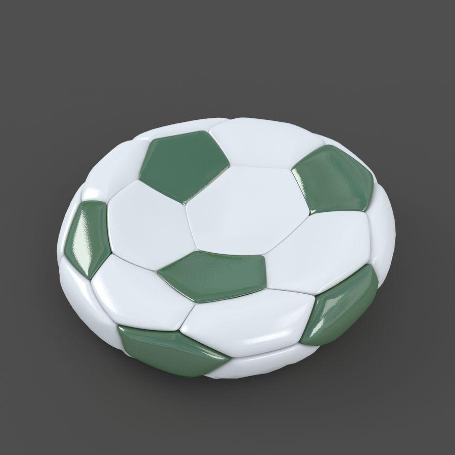 Soccerball plat vert royalty-free 3d model - Preview no. 2