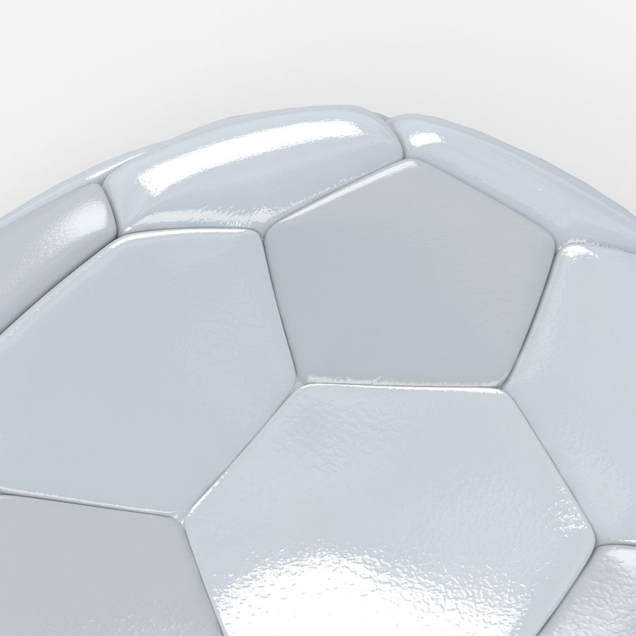 Soccerball plat blanc royalty-free 3d model - Preview no. 4