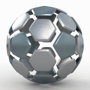 Soccerball split Um metal duro 3d model