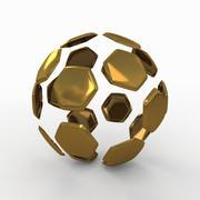 Soccerball分裂B金色 3d model