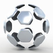 Fotbollsdelad B-metall 3d model