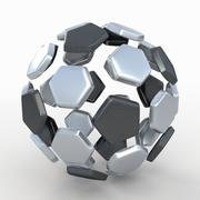 Soccerball split C metal 3d model