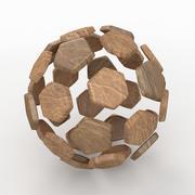Soccerball split C old 3d model