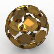 Soccerball拆分D金色 3d model