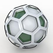 Émission de football soccerball green 3d model