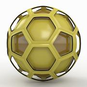 Émission de football soccerball jaune 3d model
